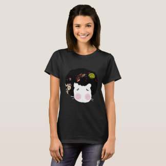 Camiseta Golpeia a T-camisa animal do gráfico de AfroHair