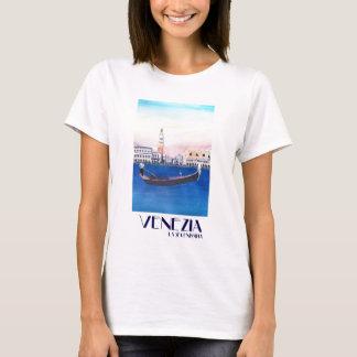 Camiseta Gôndola de Veneza Italia no canal grande com San