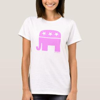Camiseta GOP republicano orgulhoso do elefante cor-de-rosa