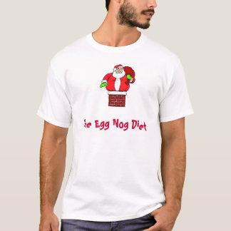 Camiseta Gordura engraçada Papai Noel da dieta da gemada do