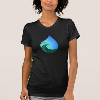 Camiseta Gota da água da onda este tshirt salgado da vida