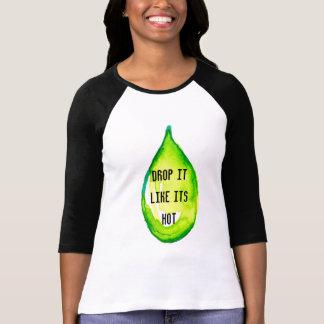 Camiseta Gota verde dos óleos essenciais gosta de sua