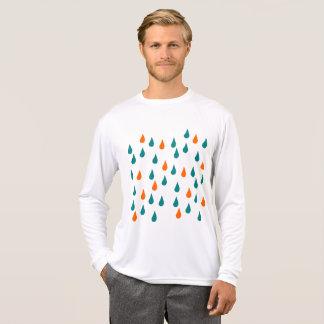 Camiseta Gotas/luva longa do concorrente Esporte-Tek dos