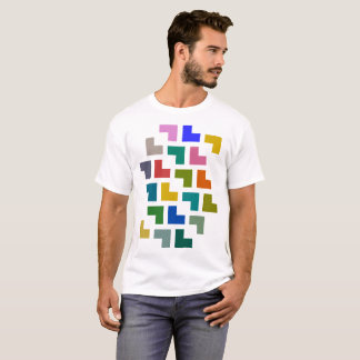Camiseta Gotas/t-shirt básico dos homens