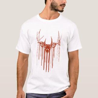 Camiseta Gotejamento dos cervos do estêncil