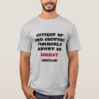 Camiseta Grâ Bretanha era grande uma vez