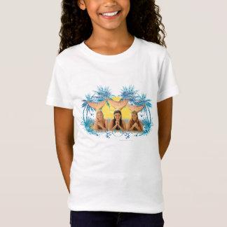 Camiseta Gráfico azul da palmeira do grupo