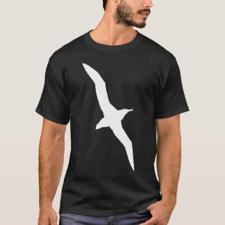 Camiseta Gráfico branco do albatroz em vôo