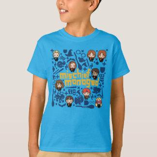 """Camiseta Gráfico controlado """"prejuízo"""" dos desenhos"""