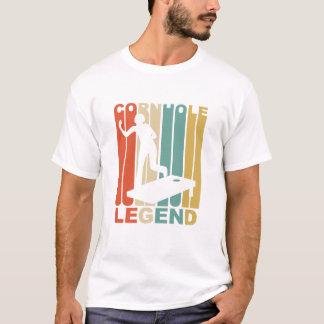 Camiseta Gráfico da legenda de Cornhole do vintage