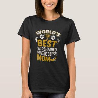 Camiseta Gráfico da mamã apontar Wirehaired Griffon do