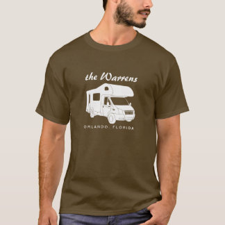 Camiseta Gráfico da silhueta da classe C Motorhome