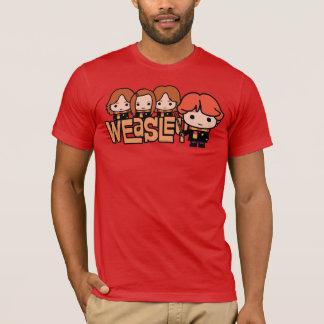 Camiseta Gráfico de Weasley Siblilings dos desenhos