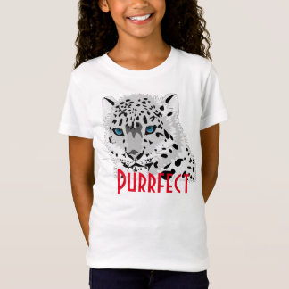 "Camiseta Gráfico do leopardo de neve de ""Purrfect"""
