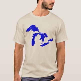 Camiseta Gráfico do logotipo dos grandes lagos dos homens