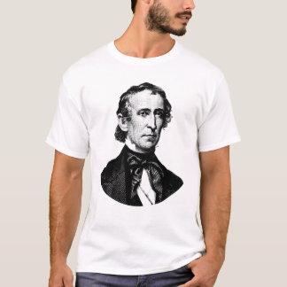 Camiseta Gráfico do presidente John Tyler - preto e branco