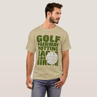 Camiseta Gráfico do texto da terminologia do golfe dos
