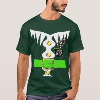 Camiseta Gráfico do traje do duende do Natal da novidade do