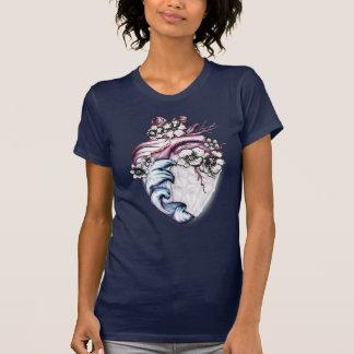 Camiseta Gráfico real de cristal T do coração do amor feroz
