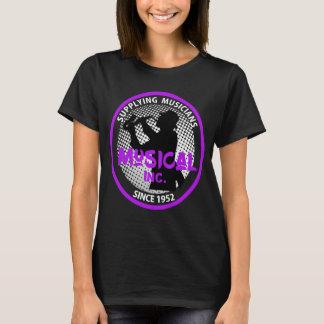 Camiseta Gráfico retro do jogador de saxofone do logotipo