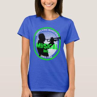 Camiseta Gráfico retro do jogador de trombeta do logotipo