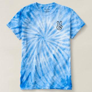 Camiseta Gráfico T do sinal de paz da tintura do laço