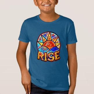 Camiseta Gráfico Uplifting da mensagem do ~ colorido da