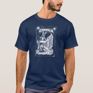 Camiseta Grafiteira CANZILLA - Retro SciFi monstro banda