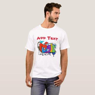 Camiseta Grafites: A música, adiciona o nome ou o texto