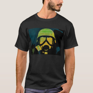 Camiseta Grafites da máscara de gás