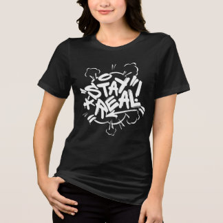 Camiseta Grafites da menina: Estada Streetwear real