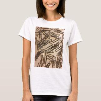 Camiseta Grampos de papel para a pessoa de papel