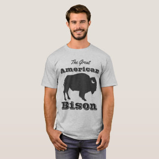 Camiseta Grande bisonte americano rústico