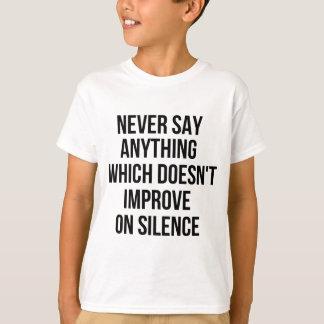 Camiseta Grande frase simples legal de tao da filosofia da