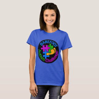 Camiseta Grande logotipo do t-shirt básico descalço do