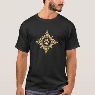Camiseta Grande rosa de compasso do ouro