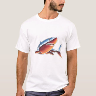 Camiseta Grande tubarão branco do cromo