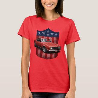 Camiseta Grandes senhoras americanas vermelhas T de Camaro