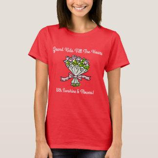 Camiseta GrandKidsFillTheHoursWithSunshineandFlowers