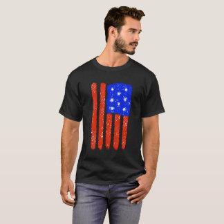 Camiseta Grão cru da bandeira dos E.U.