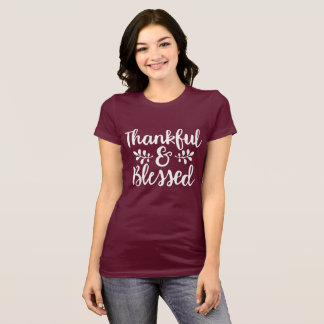Camiseta Grato e abençoado