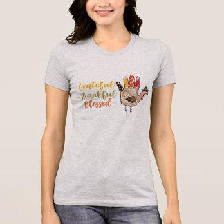 Camiseta Grato grato da acção de graças da mão de Turquia