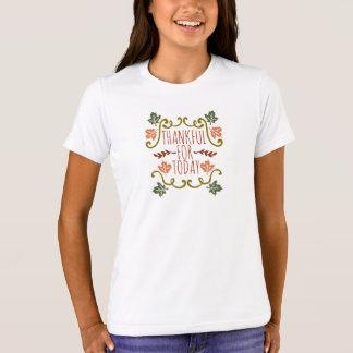 Camiseta Grato para o t-shirt do grupo da acção de graças |