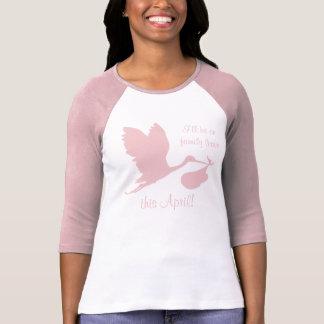 Camiseta Gravidez Annoucement para a mamã