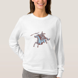 Camiseta Gravura a água-forte da lança do cavalo de