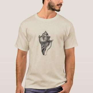 Camiseta Gravura a água-forte marinha clássica - Conch