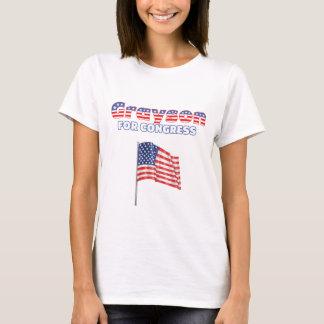 Camiseta Grayson para a bandeira americana patriótica do