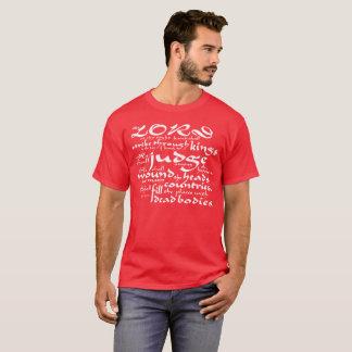 Camiseta Greve através dos reis (rei James Bíblia do 110:1