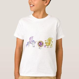 Camiseta griffon do unicórnio da essência da espiral do