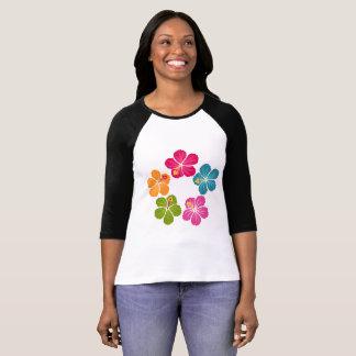 Camiseta Grinalda das flores do hibiscus